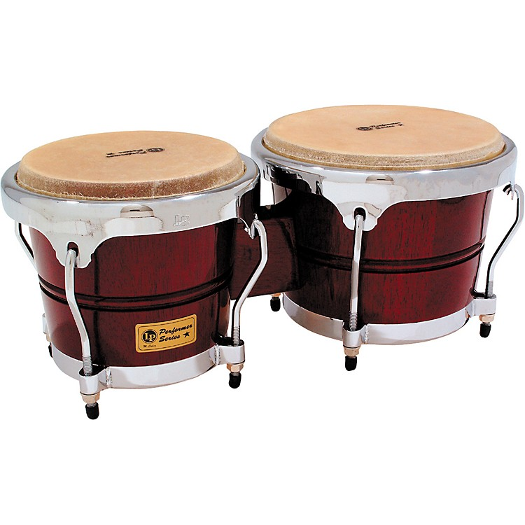 LP LPP601 Performer Series Bongos Dark Wood Chrome Hardware