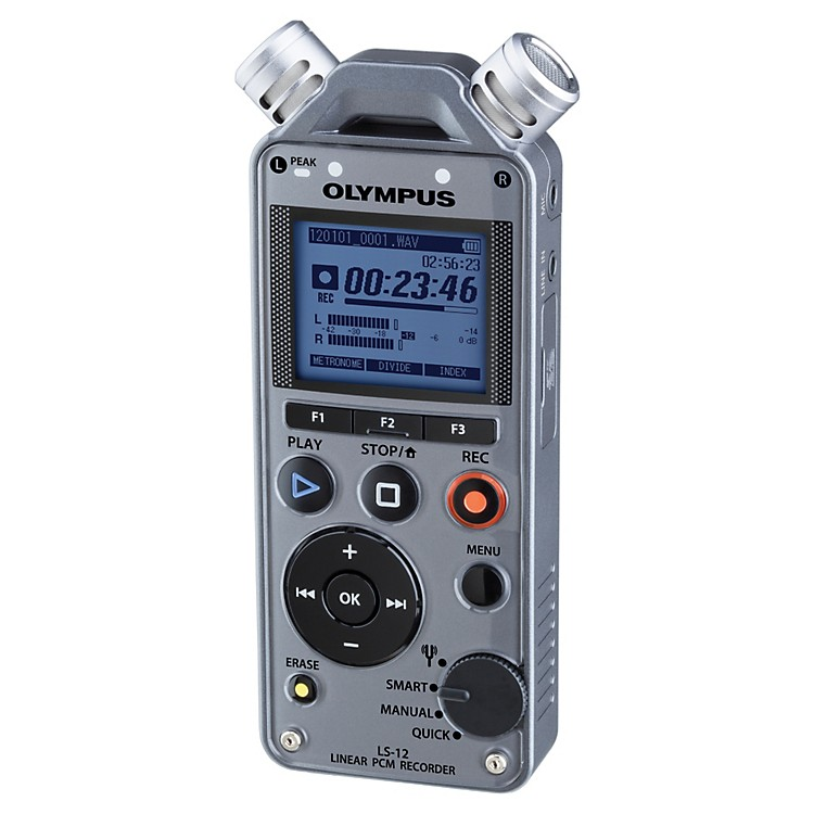 Olympus LS-12 Linear PCM Recorder Gunmetal Grey