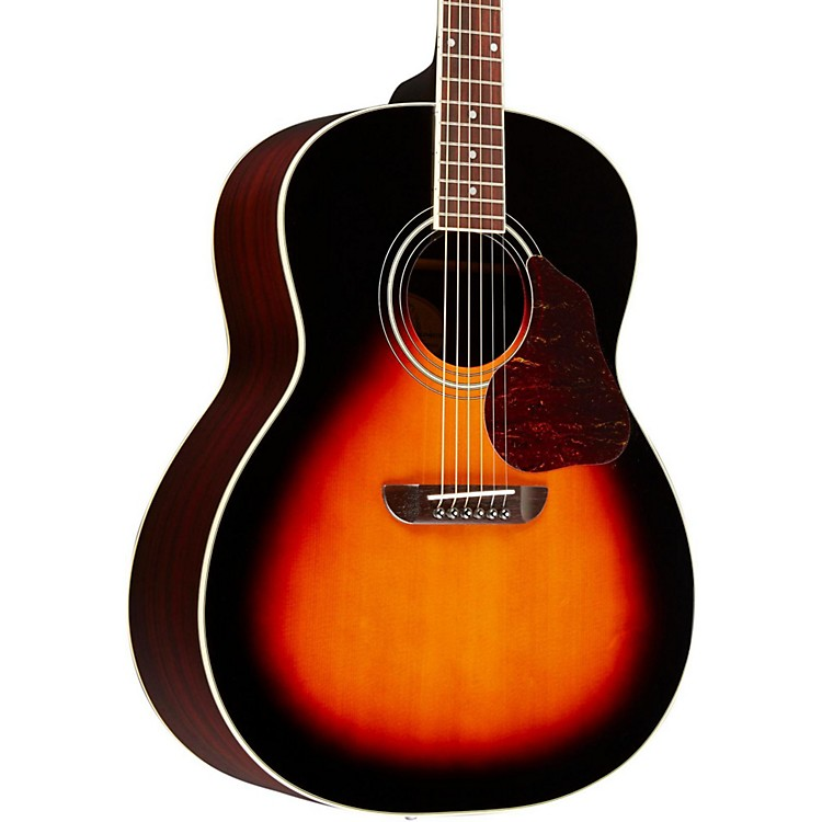 WashburnLSJ743 Lakeside Jumbo With Solid Spruce Top Rosewood Back and Sides Acoustic GuitarVintage Tobacco Sunburst