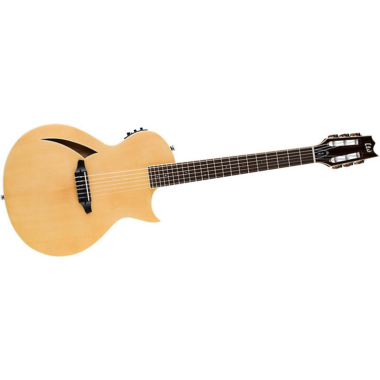ESP LTD ARC-6 Nylon String Acoustic-Electric Guitar Natural
