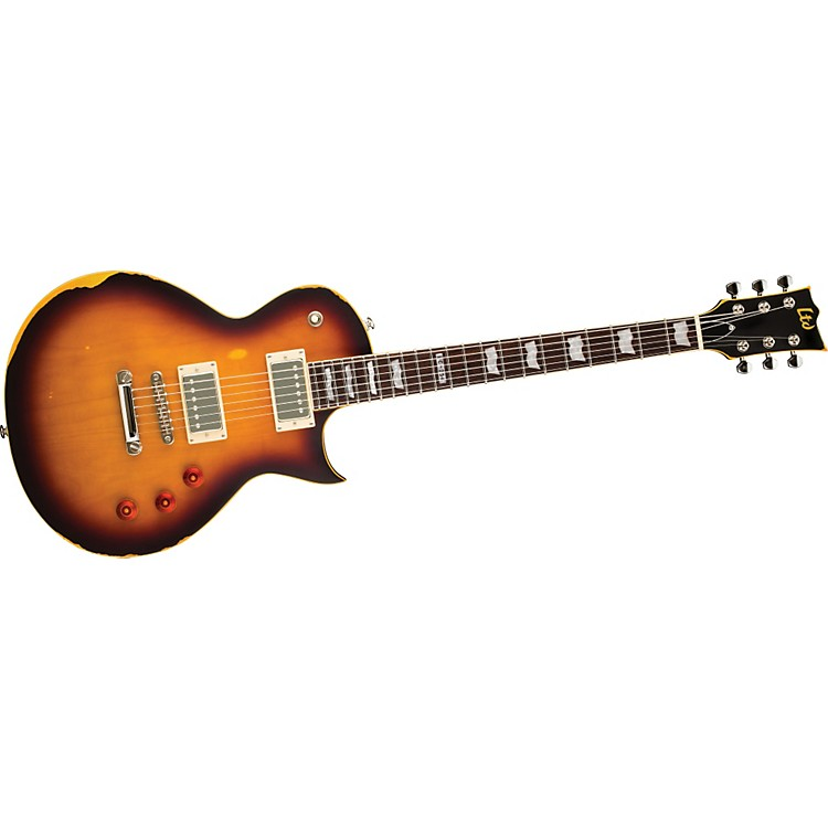 ESP LTD EC-256 Electric Guitar Distressed 2-Tone Burst