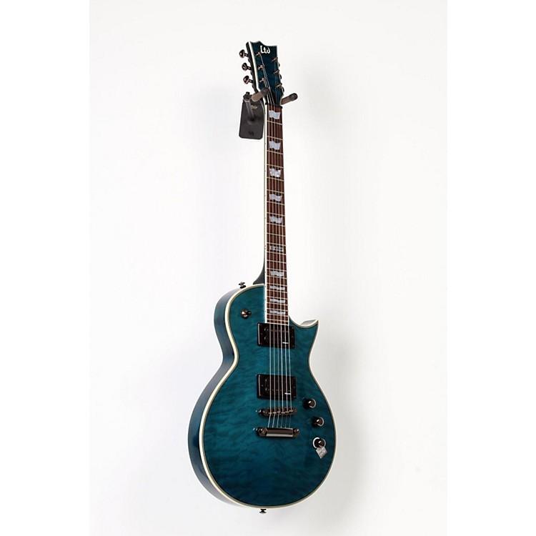 ESPLTD EC-401QMV Electric GuitarSee-Thru Aqua888365618227
