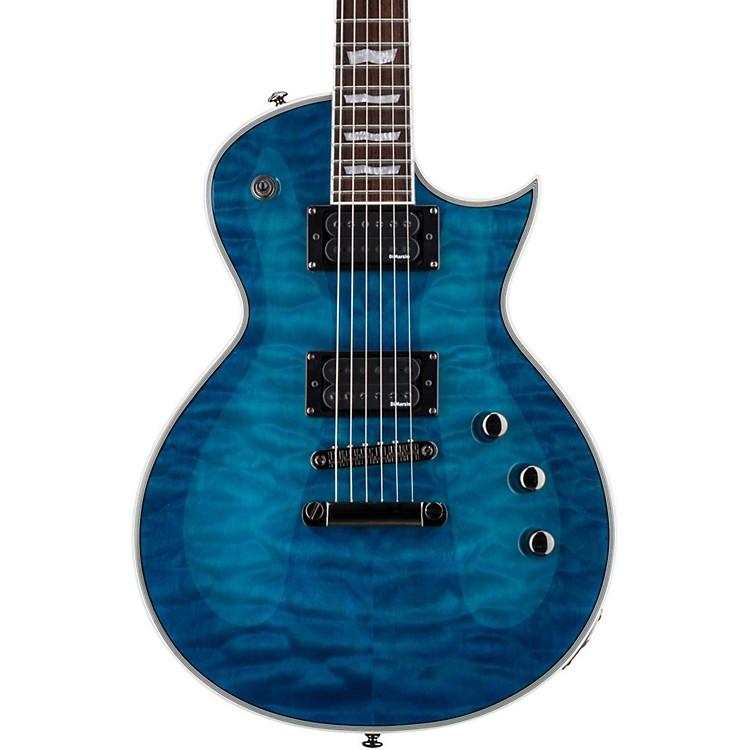 ESPLTD EC-401QMV Electric GuitarSee-Thru Blue
