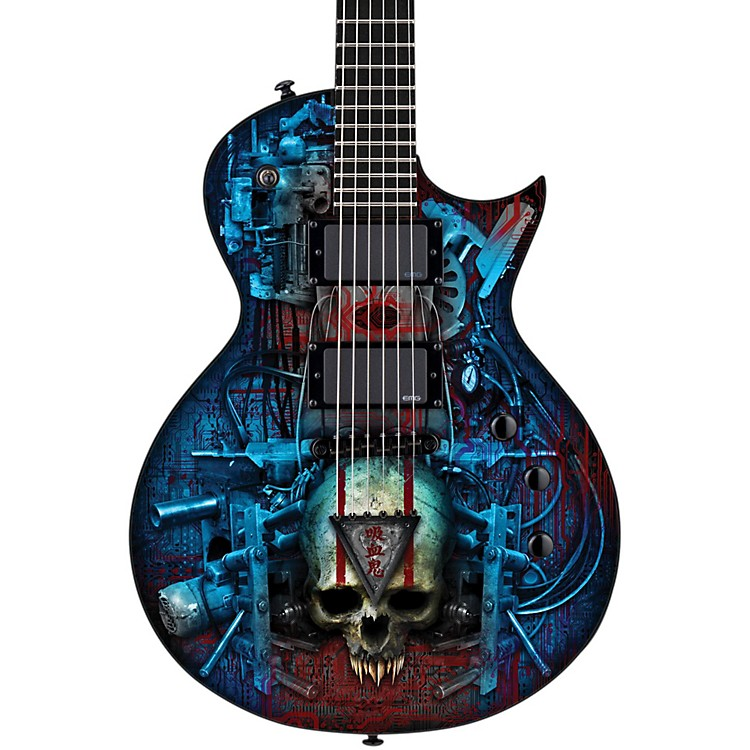ESP LTD EC Vampire Bio Tech Electric Guitar Graphic