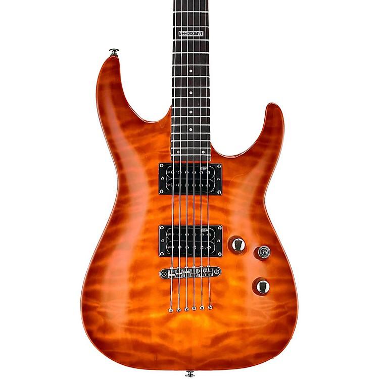 ESPLTD LMH100QMNT Quilt Maple Top Electric GuitarAmber Sunburst