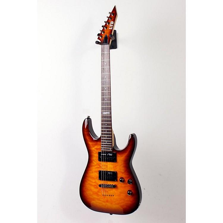 ESPLTD LMH100QMNT Quilt Maple Top Electric GuitarAmber Sunburst888365152134