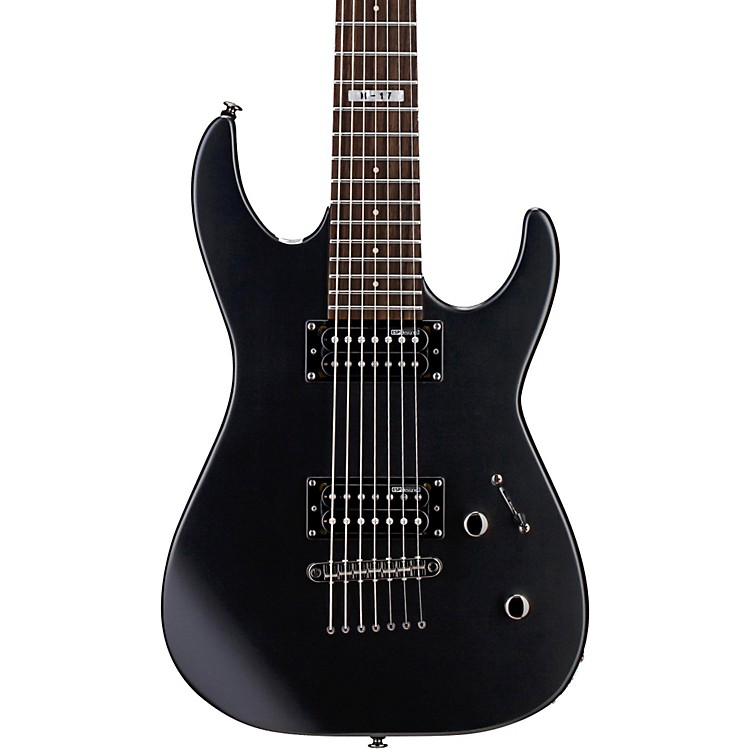 ESP LTD M-17 7-String Electric Guitar Satin Black
