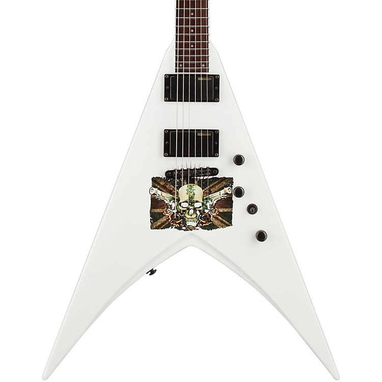 ESP LTD Michael Paget MP-330 V Electric Guitar graphic Snow White