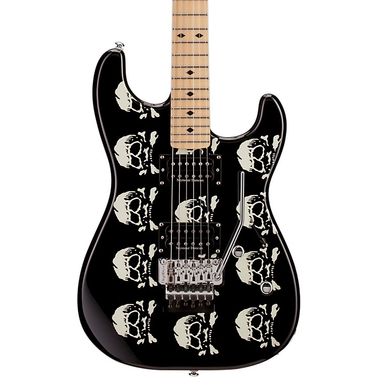 ESP LTD Michael Wilton Electric Guitar Skull graphic