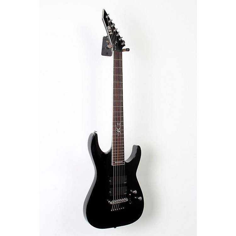 ESP LTD SC-607B 7-String Baritone Electric Guitar Black 888365810836
