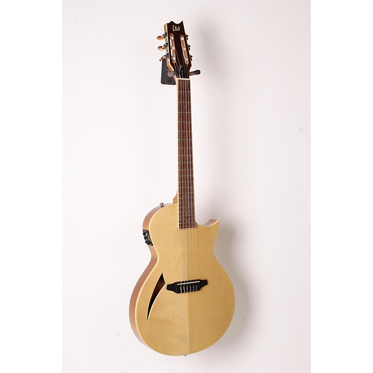 ESP LTD TL-6N Thinline Nylon String Acoustic-Electric Guitar Natural 888365842776