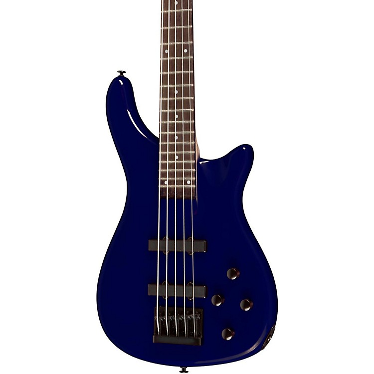 Rogue LX205B 5-String Series III Electric Bass Guitar Metallic Blue