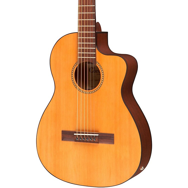 Cordoba La Playa Travel Half-Size Acoustic-Electric Steel String Guitar Natural