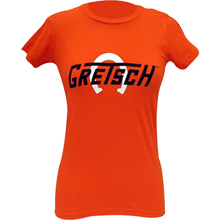 Gretsch Ladies Horseshoe Tee Shirt Orange Small