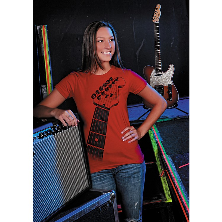 Fender Ladies Strat Neck Tee Shirt