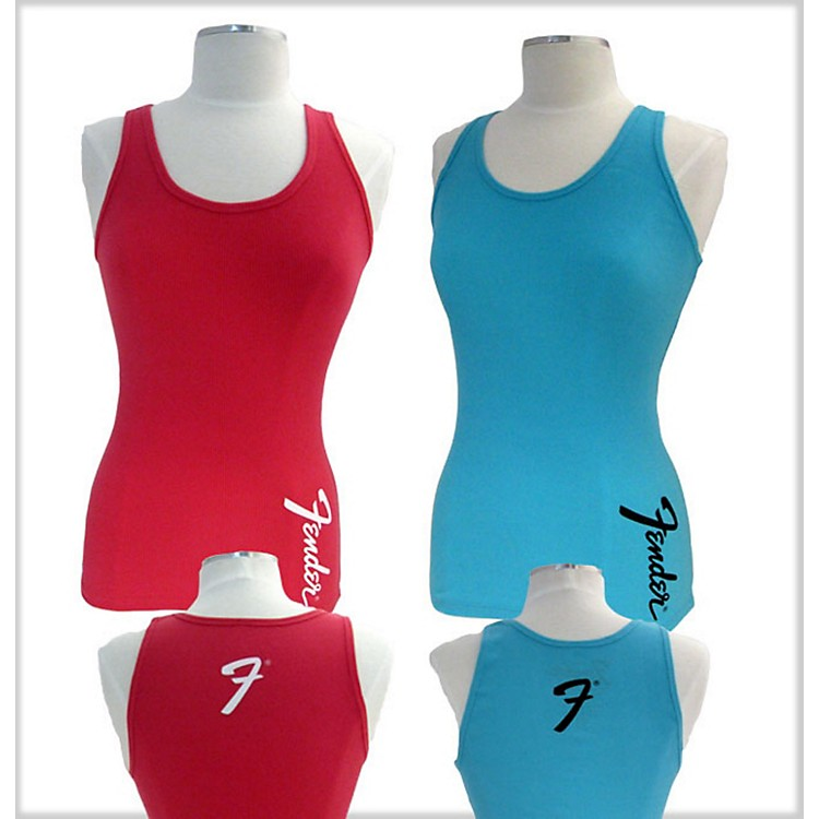 Fender Ladies Teal Amp Logo Tank Teal Small