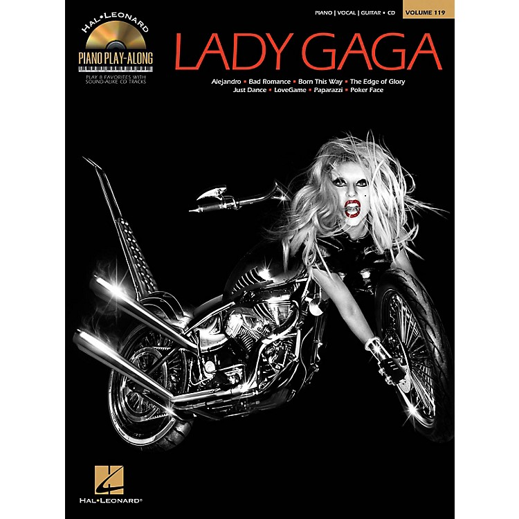 Hal LeonardLady Gaga - Piano Play-Along Volume 119 Book/CD