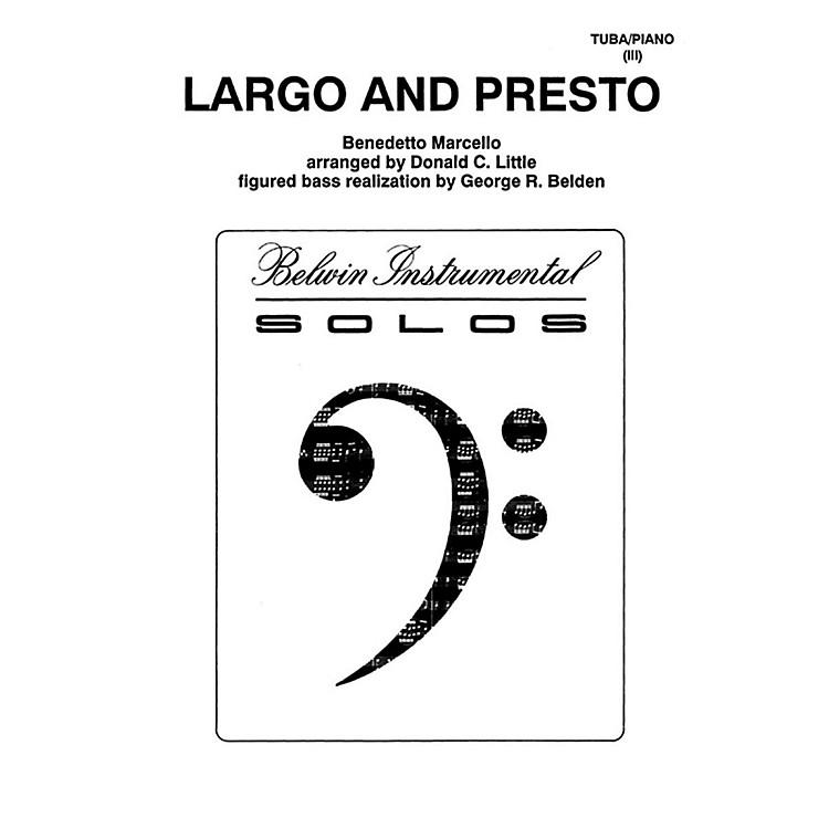 AlfredLargo and Presto for Tuba By Benedetto Marcello / arr. Donald C. Little Book