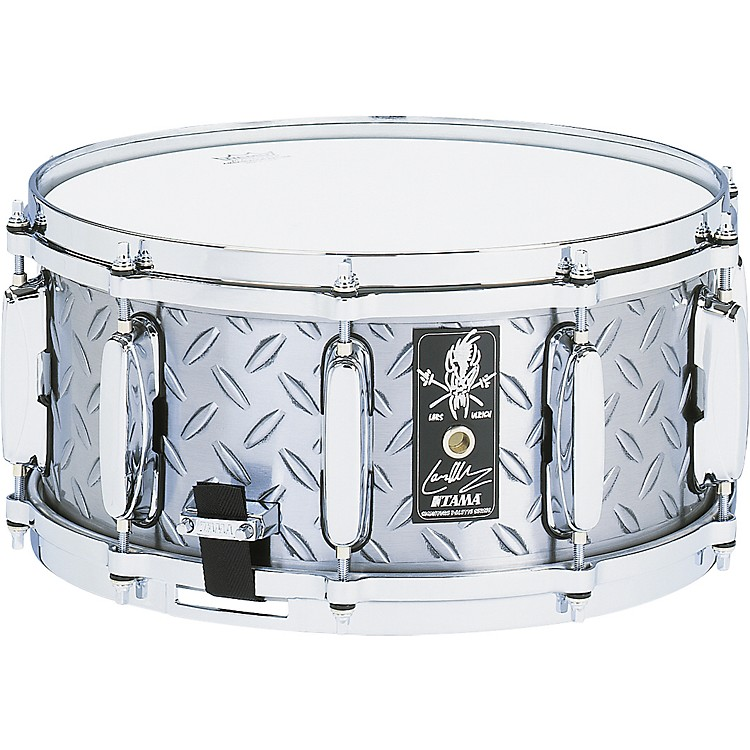 Tama Lars Ulrich Diamond Plate Steel Snare Drum 14x6.5  14x6.5 Inches