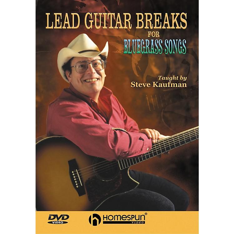 HomespunLead Guitar Breaks for Bluegrass Songs (DVD)