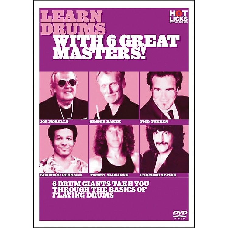 Hot Licks Learn Drums with 6 Great Masters DVD