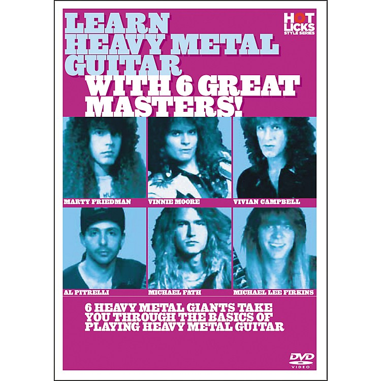 Hot Licks Learn Heavy Metal Guitar with 6 Great Masters DVD