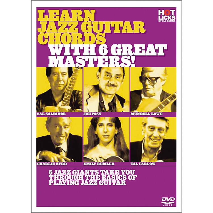 Hot Licks Learn Jazz Guitar Chords with 6 Great Masters