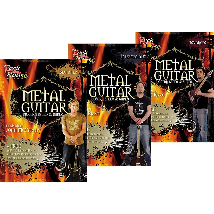 Rock House Learn Metal Guitar Beginner, Intermediate, & Advanced Package