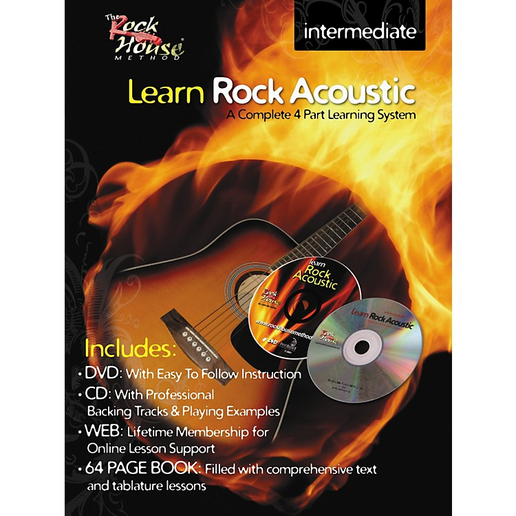 Rock House Learn Rock Acoustic Intermediate Book/DVD/CD Combo