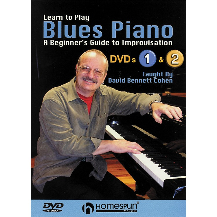 HomespunLearn To Play Blues Piano Lessons 1 and 2 DVD