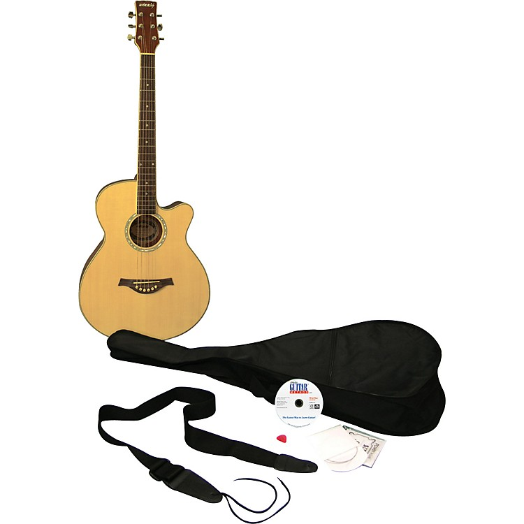 eMediaLearn to Play Guitar Acoustic Guitar PackNatural