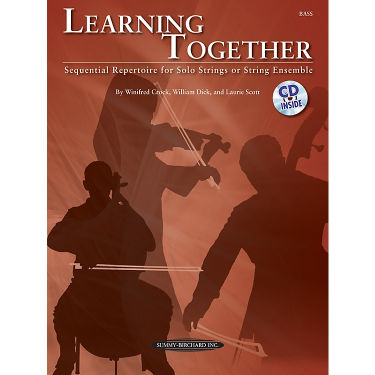 Summy-BirchardLearning Together for Upright Bass (Book/CD)