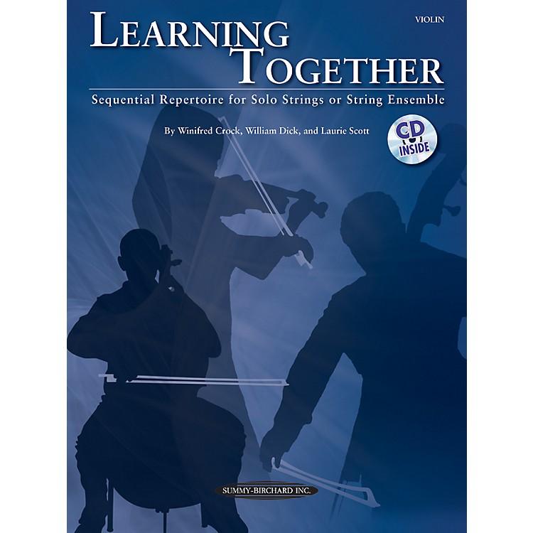 Summy-BirchardLearning Together for Violin (Book/CD)