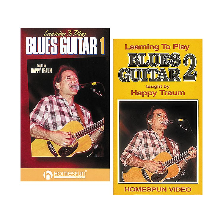 Homespun Learning to Play Blues Guitar 2-Video Set (VHS)