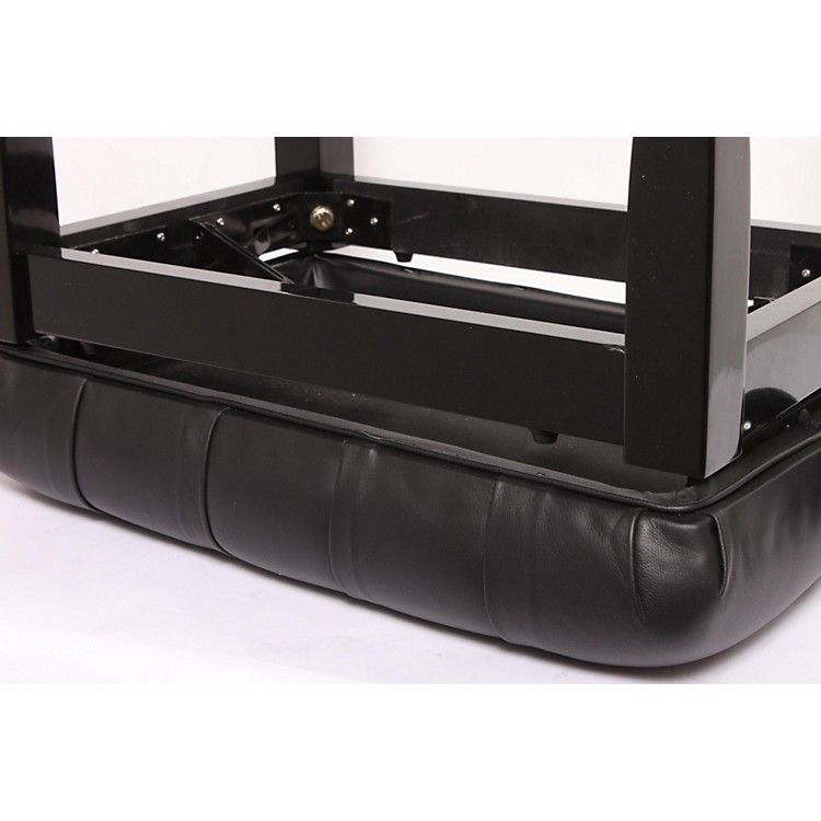 Musician's Gear Leather Concert Piano Bench Black 886830161452
