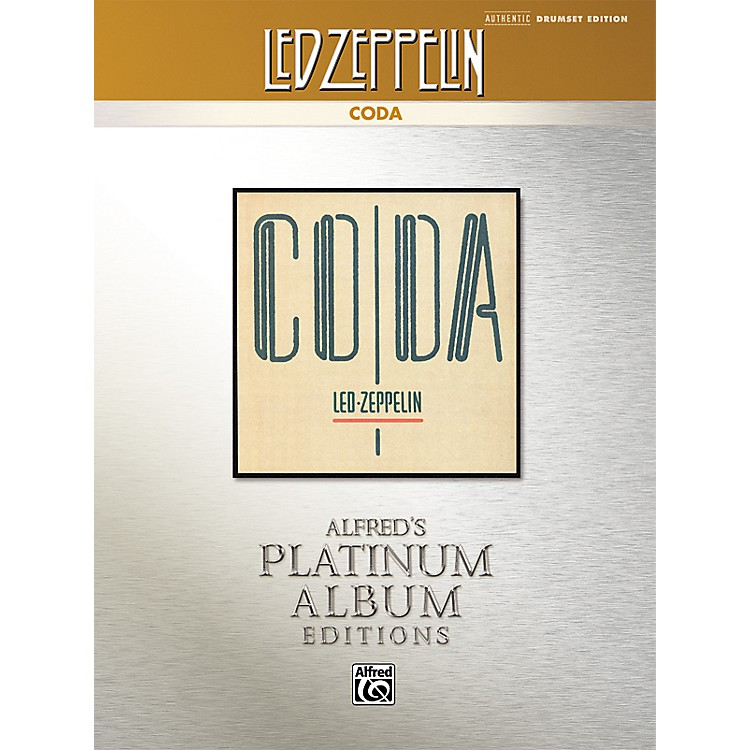AlfredLed Zeppelin - Coda Drums Platinum Edition Book