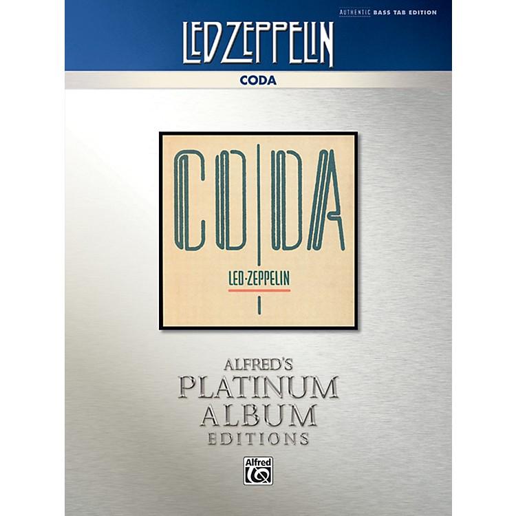 AlfredLed Zeppelin - Coda Platinum Bass Guitar TAB Book