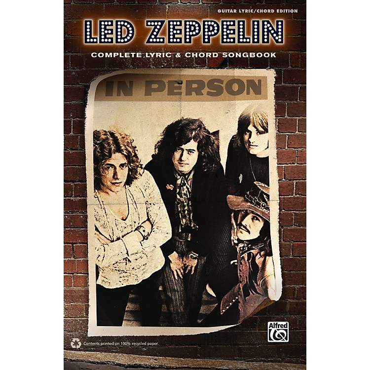 AlfredLed Zeppelin - Complete Lyric & Chord Songbook