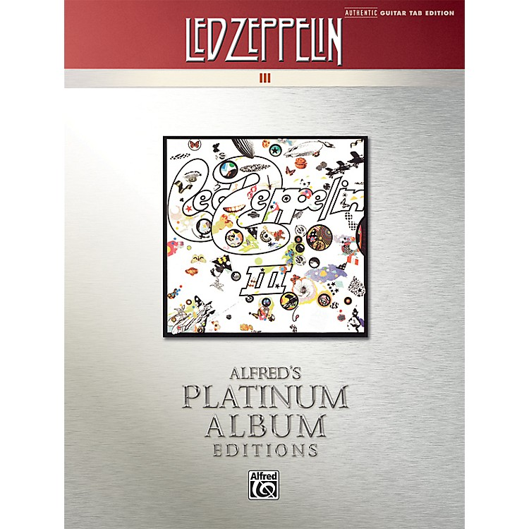 AlfredLed Zeppelin III Guitar Tab Platinum Edition Book