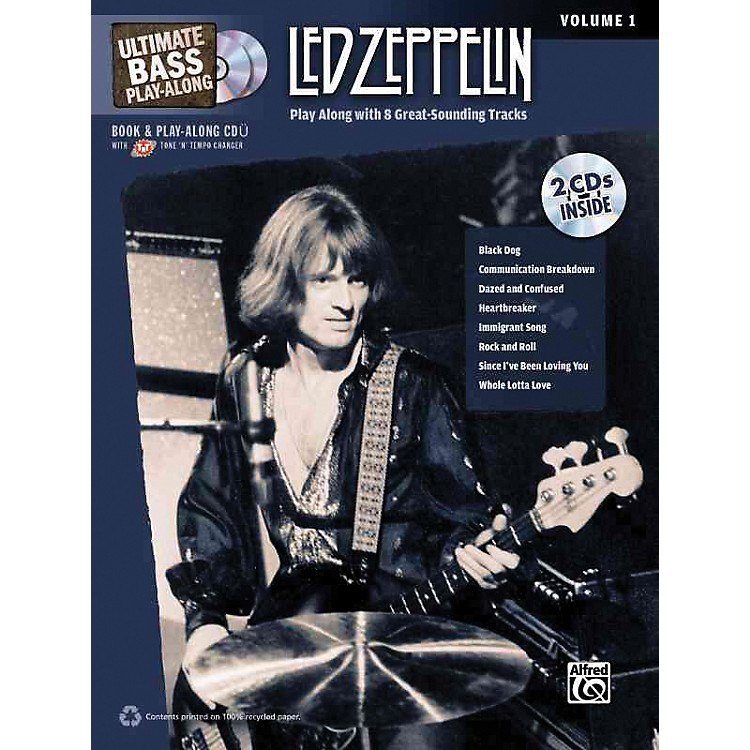 AlfredLed Zeppelin Ultimate Play Along Bass Volume 1 with 2 CD's