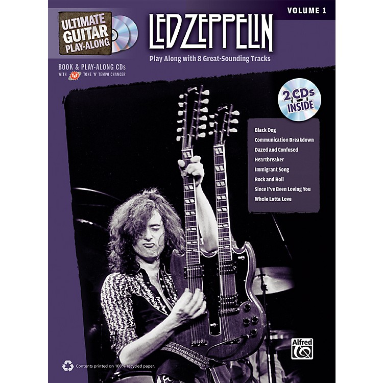 AlfredLed Zeppelin Ultimate Play Along Guitar Volume 1 with 2 CD's
