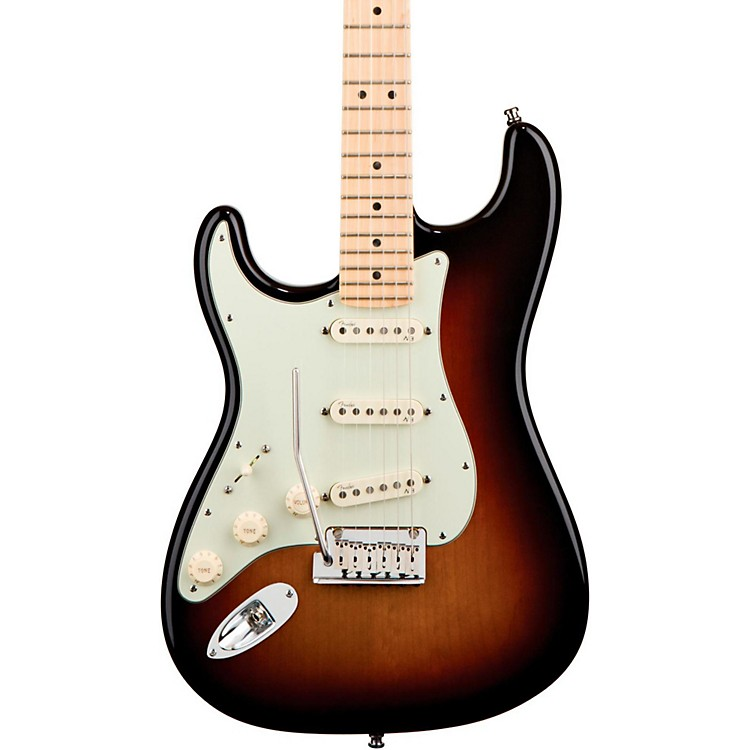 Fender Left-Handed American Deluxe Stratocaster Electric Guitar 3-Color Sunburst Maple Neck