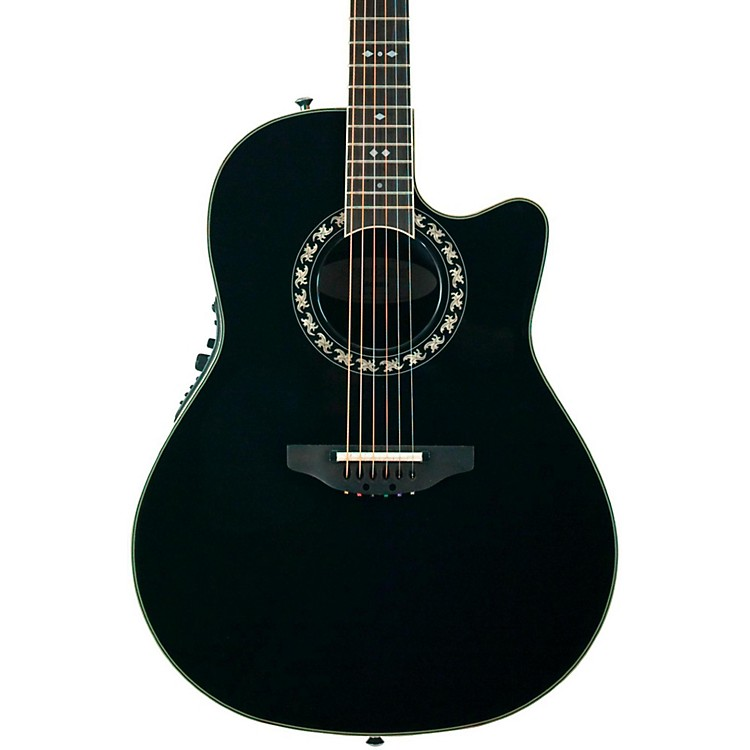 OvationLegend 2077 AX Deep Contour Acoustic-Electric GuitarBlack