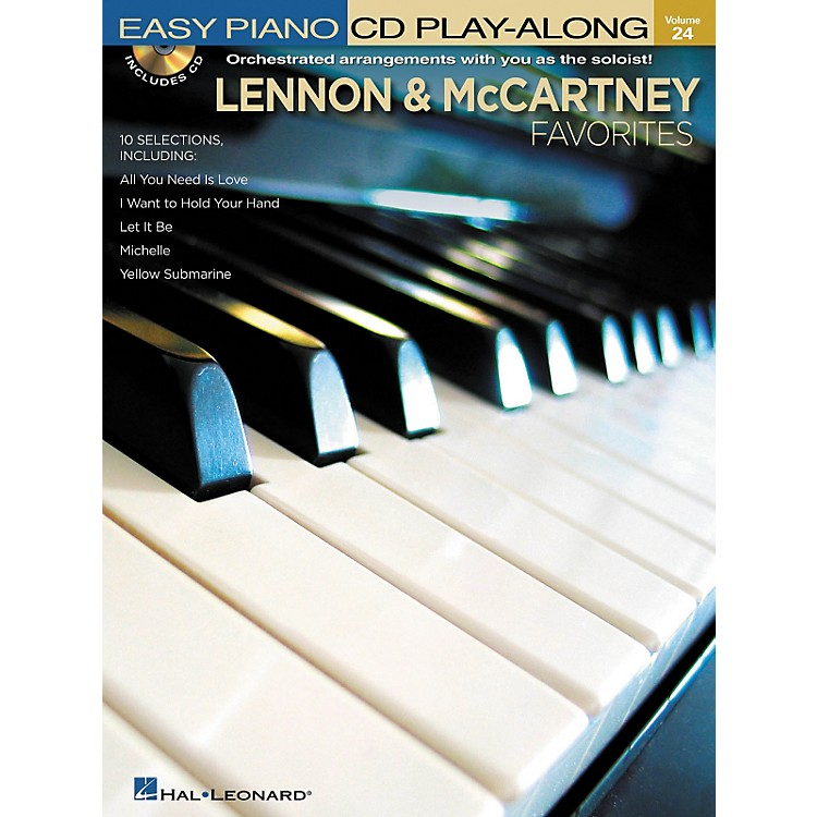 Hal Leonard Lennon & McCartney Favorites - Easy Piano CD Play-Along Volume 24 Book/CD