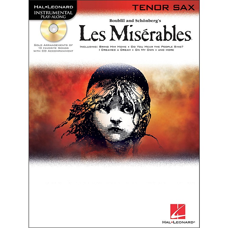 Hal Leonard Les Miserables for Tenor Sax - Instrumental Play-Along Book/CD