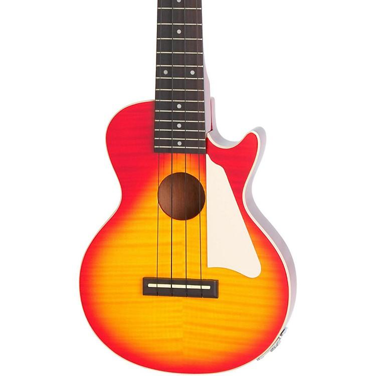 EpiphoneLes Paul Acoustic-Electric Concert Ukulele OutfitHeritage Cherry Sunburst