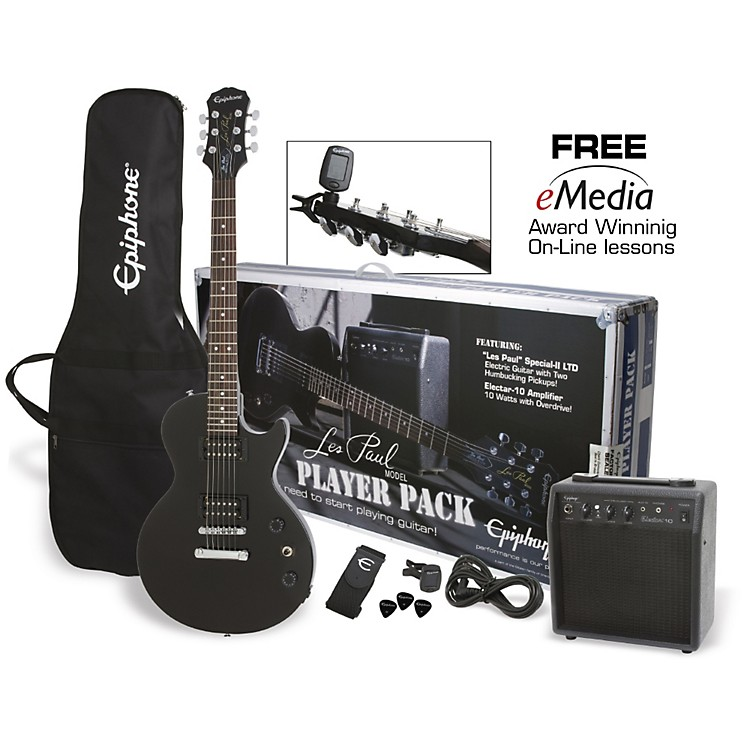 Epiphone Les Paul Electric Guitar Player Pack Ebony