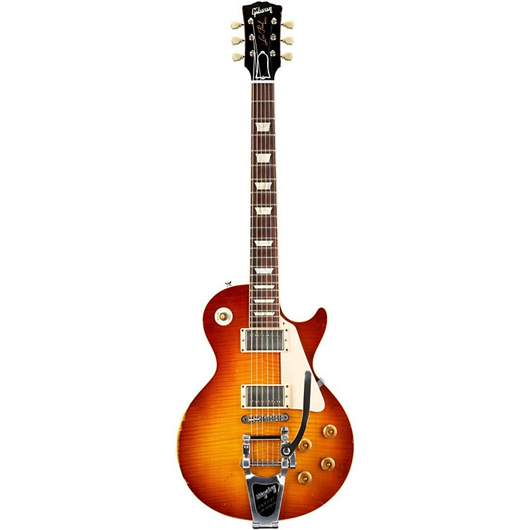 Gibson CustomLes Paul Reissue Ultra-Aged 1959 Murphy Electric Guitar with BigsbyAged Sunburst