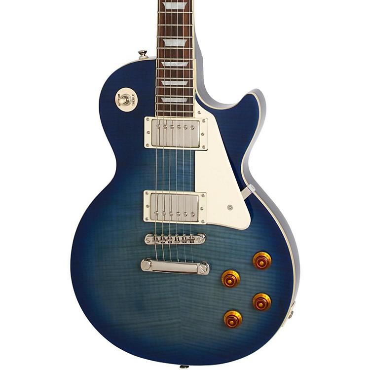 EpiphoneLes Paul Standard PlusTop Pro Electric GuitarTranslucent Blue