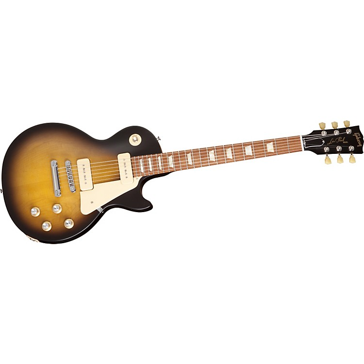 Gibson Les Paul Studio 60's Tribute Electric Guitar with P-90 Pickups Satin Vintage Sunburst